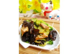 34 Légumes aux champignons noirs sautés